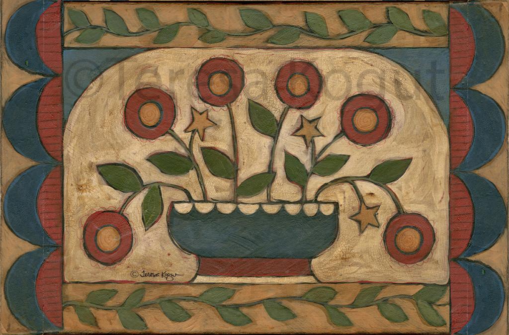 4007 - Americana Folk Floral for Park