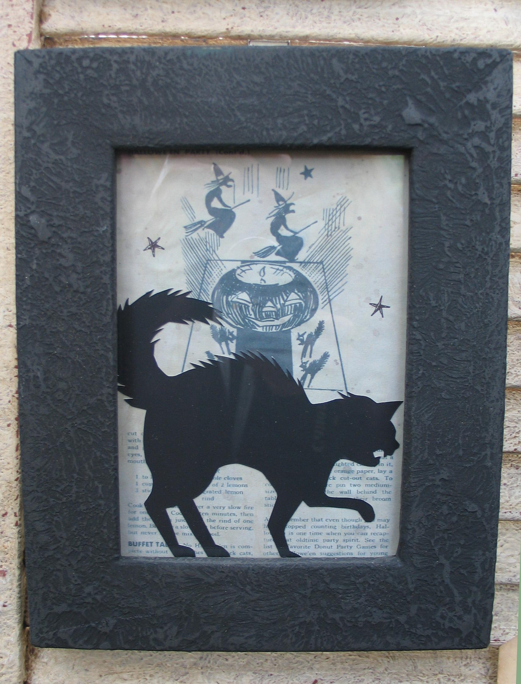 halloween, silhouette, cat