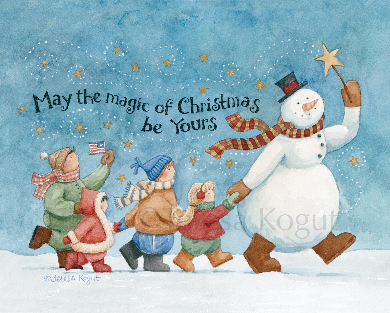 Watercolor Christmas Amp Winter Angel Art Angels Art