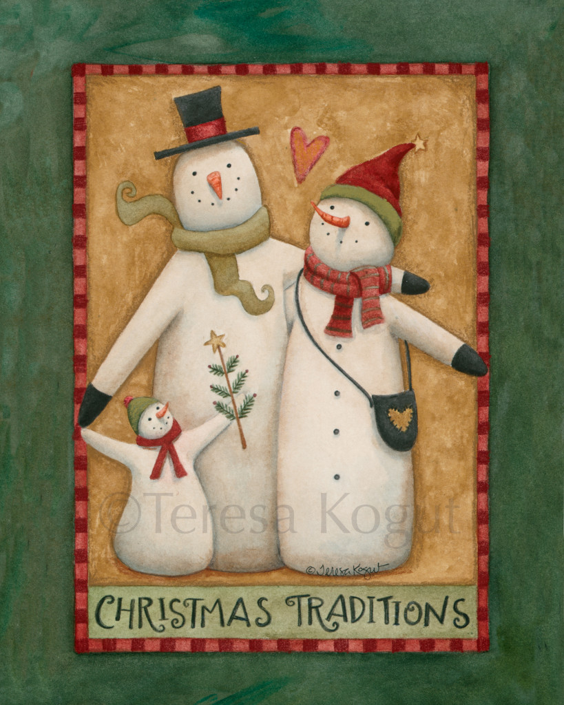 1206-Primitive Snowmen 8x10