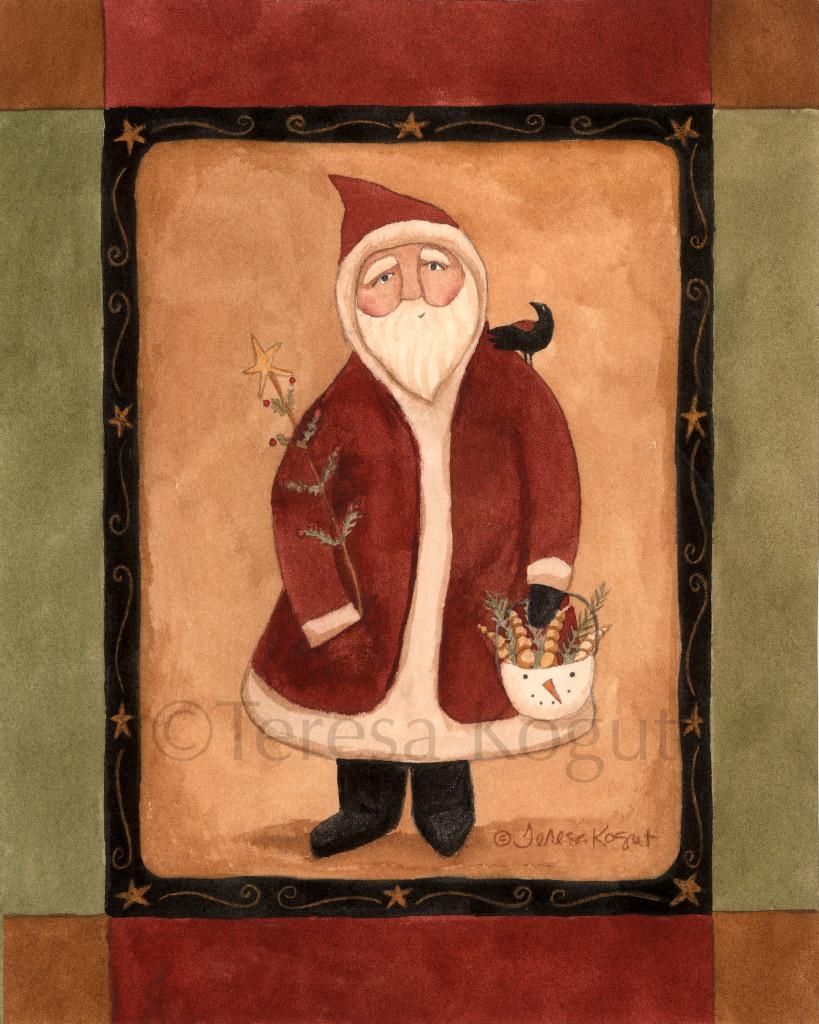 1340-Santa with bucket 8x10