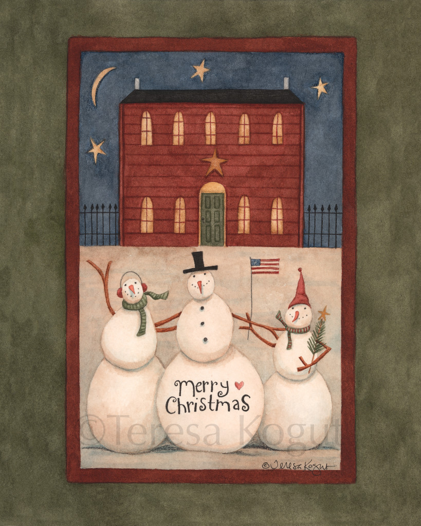 1459-Snowman Trio 8x10