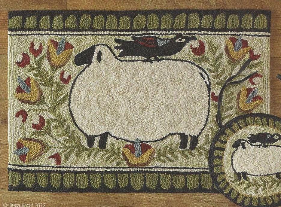 Sheep&crowrug