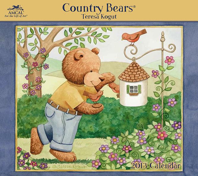 calendar, teddy bears, country bears, teresa kogut